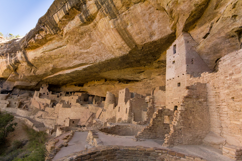 Mesa Verde in Southwestern Colorado offers some of the most intact Anasazi Pueblos around, like the Cliff Palace.